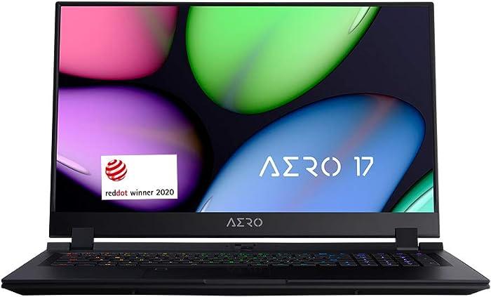 "[2020] Gigabyte AERO 17 KB-7US1130SH Thin and Light Laptop, 17.3"" Thin Bezel 144Hz FHD Anti-Glare Display, i7-10875H, NVIDIA GeForce RTX2060, 16GB RAM, M.2 PCIe 512GB SSD, Win 10 Home"