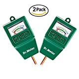 Dr.Meter 2S10 Hygrometer Moisture Sensor Meter for Garden, Farm, Lawn Plants Indoor & Outdoor, No Battery needed, Green