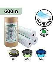 Recharges de poubelle à couches et anti-odeurs compatible avec Sangenic, Angelcare et Litière Litter Locker II - inclus le tube en carton pour faciliter la recharge