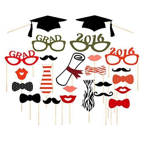 Tinksky Graduation Glasses Moustache decorations