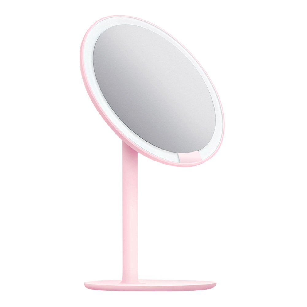 "AMIRO LED Makeup Mirror with Lights, Cordless, Dimmable, 1X/5X Magnification, 6.5"" Lighted Vanity Mirror"