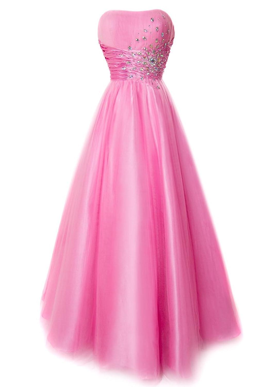 Amazon.com: Fiesta Formals Strapless Princess Ball Gown Prom Dress ...