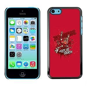 Be Good Phone Accessory // Dura Cáscara cubierta Protectora Caso Carcasa Funda de Protección para Apple Iphone 5C // Zombie Quote Cartoon Monster Pink Attack Movie