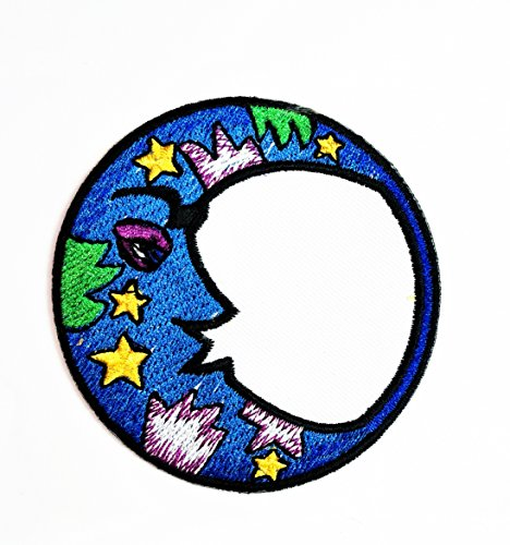 HHO Magic moon Peace Logo Hippie Retro Patch Embroidered DIY Patches, Cute Applique Sew Iron on Kids Craft Patch for Bags Jackets Jeans Clothes]()