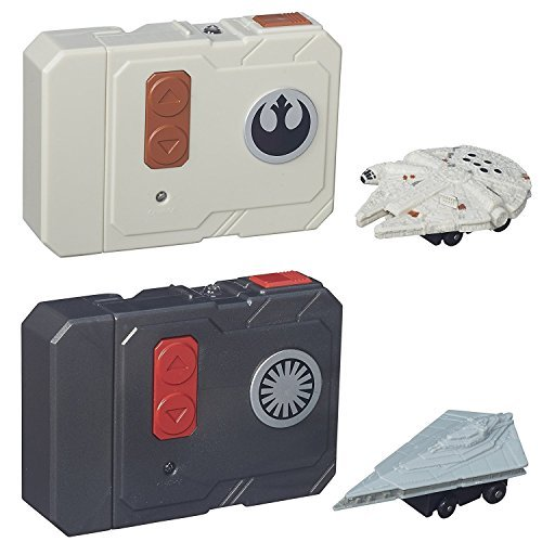 (Star Wars The Force Awakens Micro Machines Millennium Falcon + First Order Star Destroyer RC Vehicles - 2pc Set)