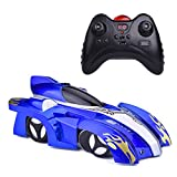 zero gravity remote control car - Fun Little Toys Remote Control Wall Climbing Car-Gravity Defying RC Car in Assorted Colors for Kids Electric Sport Racing Car Toy (Blue)
