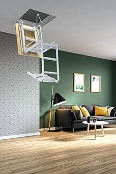 Mister Step Starre Bodentreppe Für Dachböden: 4 PZ   100 X 60 Cm. Grau:  Amazon.de: Baumarkt