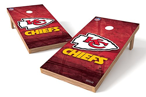 Wild Sports NFL Kansas City Chiefs 2' x 4' Authentic Cornhole Game Set