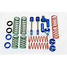Traxxas X-Maxx 4X4 Upgrade Parts Aluminum Front/Rear L-Shape Damper Components - 1 Set Blue