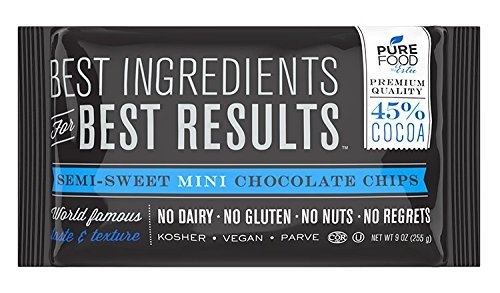 Barry Callebaut Chocolate | Certified Kosher | Gluten-Free, Dairy-Free, Nut-Free | Vegan | 9 oz bag (Semi sweet chocolate, 4 Packs) ()
