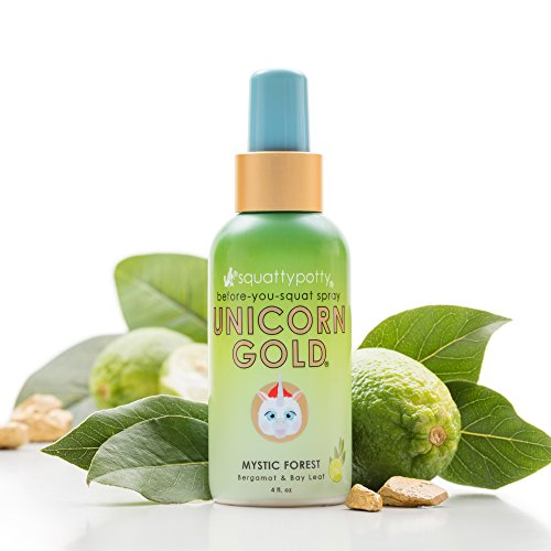 4 FL OZ. Squatty Potty Unicorn Gold Toilet Spray, Mystic Forest