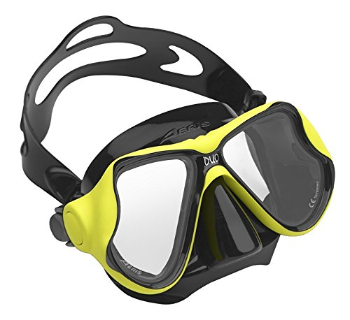 AERIS by Oceanic Duo Scuba Diving Snorkeling Mask with Box, Black/Yellow - Soft Surroundings Long Skirt Skirt