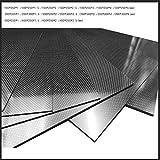 100X250X1.5MM 100% 3K Plain Weave Carbon Fiber Sheet Laminate Plate Panel