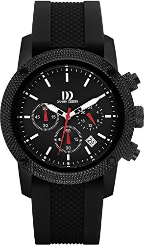 Danish Design - Wristwatch, cronografo al quarzo, gomma