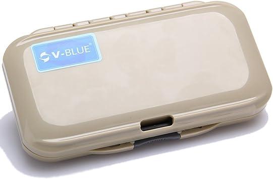 V-BLUE Caja de Señuelos Cebos Moscas Impermeable Caja para Pesca ...