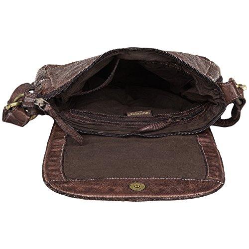 Schokolade Shoulder Leder26 Wien Cm Taschendieb Braun Bag xnqXZRnfw8