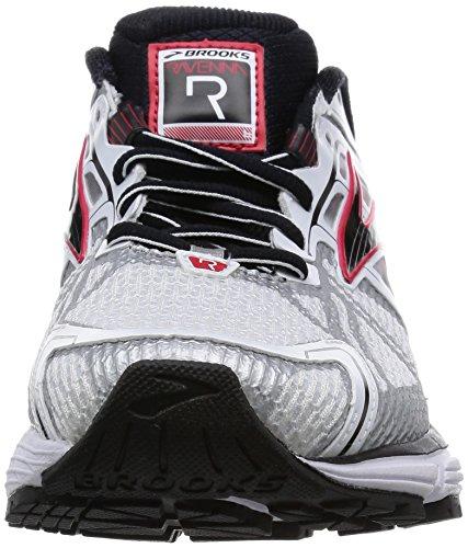 Brooks Ravenna 6, Scarpe Sportive,Uomo White/Hr Red/Blk