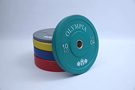 """5kg Black Bumper Plates Rubber Weight lifting Olympic 2/"""" New FREE POSTAGE"""