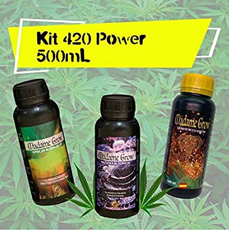MADAME GROW / Kit 420 Power/Tripack / 3 X 500 ml/Fertilizantes o abonos orgánicos Especiales/Marihuana o Cannabis/Poder para Tus Plantas