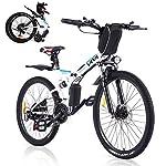 Vivi-Bicicletta-Elettrica-Pieghevole-350-W-Mountain-Bike-Elettriche-per-Adulti26-E-Bike-con-Batteria-Rimovibile-8Ah-Professionale-Shimano-21-velocita