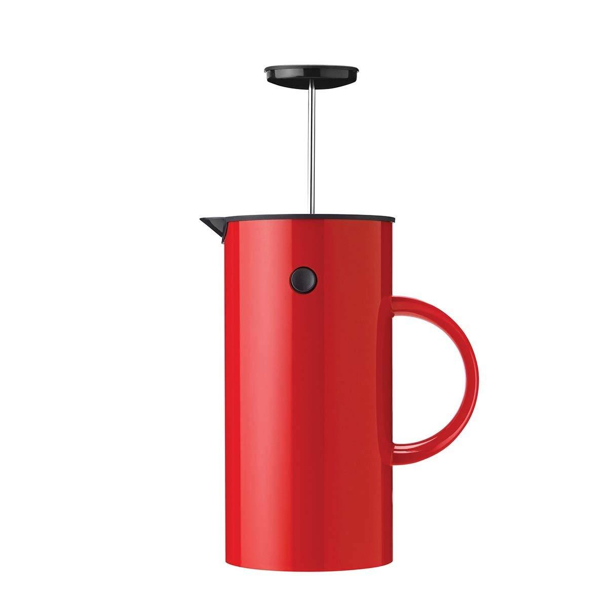 Stelton 813 EM pressf Filtro Tetera (1 L, plástico, Rojo, 14 x 14 ...