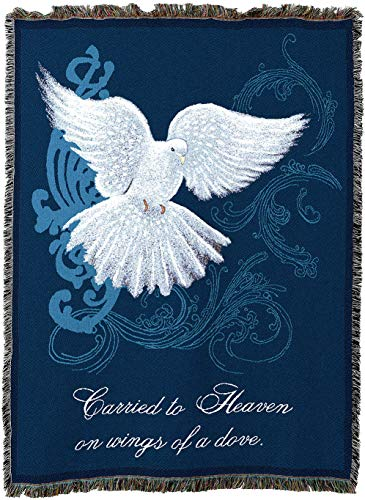 Pure Country Weavers - Memorial Dove Funeral Bereavement Sympathy Gift Blanket | Woven Tapestry Cotton USA 72x54