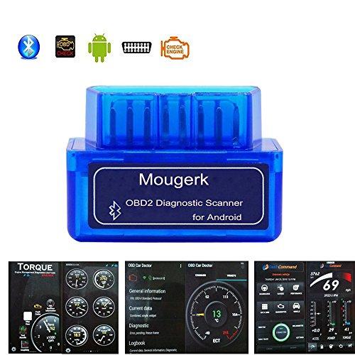 Mougerk ELM 327 Bluetooth Car Diagnostic OBD2 Reader Scanner OBDII Check Engine Light for Android