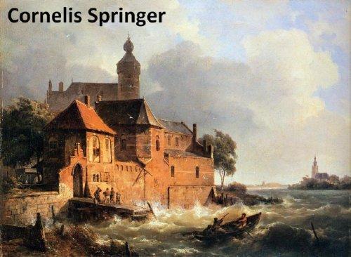 amazon com 70 color paintings of cornelis springer dutch