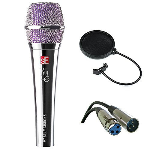 sE Electronics V7 BFG Billy Gibbons Signature Series Supercardioid Dynamic Handheld Microphone with XLR-XLR Cable and Pop Filter ()