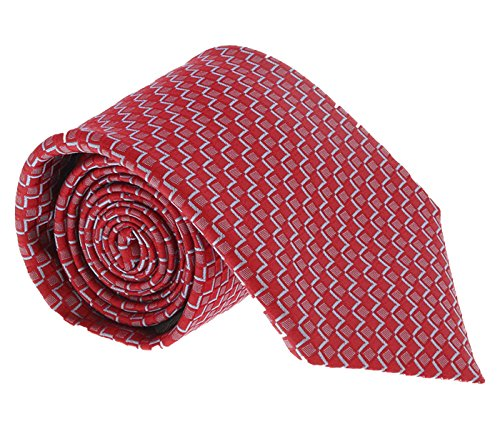 Canali Red/Blue Geometric Tie for mens