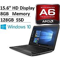 2016 NEW HP 15.6 High Performance Premium Business Laptop, 15.6 Anti-glare WLED Display, AMD Quad-Core A6 APU 2.0GHz, 8GB DDR3, 128GB SSD, DVD Burner, 802.11ac, DTS Studio, Bluetooth, Windows 10