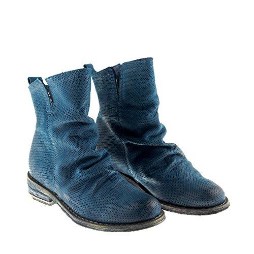 amp; Blau Biker Damen Cowboy Gredo Stiefel 8707 Schuhe Echtes Felmini Verlieben Leder SwBPY0q
