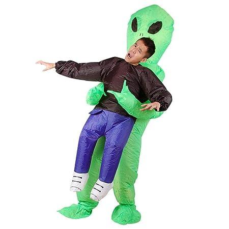 AOLVO Disfraz Hinchable Alien, Disfraz Hinchable, Disfraz, Disfraz para Halloween/Fiesta de Navidad, Divertido Accesorio de espectáculo, Color Verde