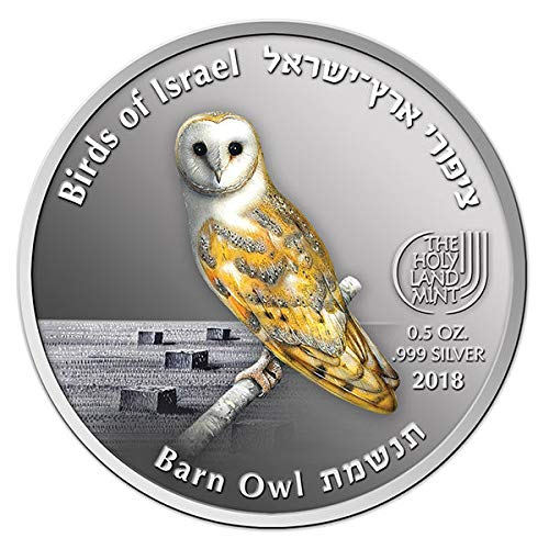 Barn Owl 0.5OZ .999 SILVER 8th OF 8th BIRDS SERIES - ISRAEL COINS & MEDALS CORP (Coin 0.5 Ounce Silver)