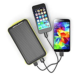 20000mAh Solar Charger, ZeroLemon SolarJuice Dual USB Port Portable Solar Battery Charger Outdoor Solar Power Charger for iPhone 6, iPhone 7, Galaxy Note 5, LG G5, iPad, Samsung and More