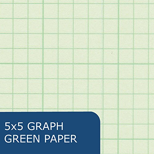 Roaring Spring Engineering Pad, 8.5'' x 11'', Green, 200 sheets by Roaring Spring (Image #2)