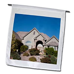 Jos Fauxtographee St. George - A beautiful house on a hill in Southern, Utah - 12 x 18 inch Garden Flag (fl_99691_1)