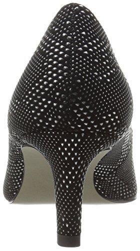 Easy Street Womens Pointe Dress Pump Nero / Argento Texture