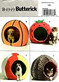 Butterick 4949 Crafts Sewing Pattern Dog & Cat Pet Beds
