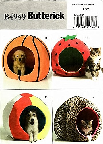 Amazon.com: Butterick 4949 Crafts Sewing Pattern Dog & Cat Pet Beds