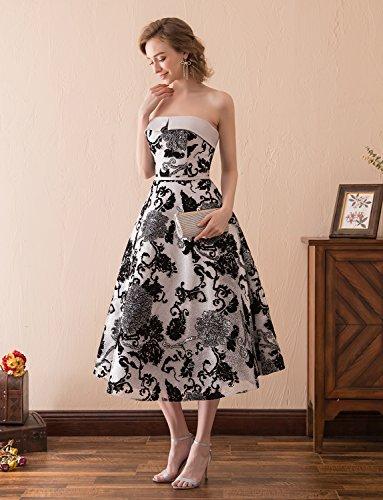 Länge Tee Abendkleider Trägerlos Erosebridal Eleganz Ballkleider Vintage HRvqBq