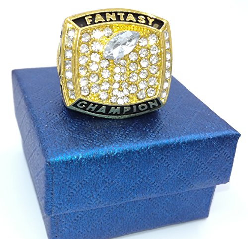 TuoYu Fantasy Football Championship Gold Ring Trophy Prize (13) (Championship Rings Size 13)