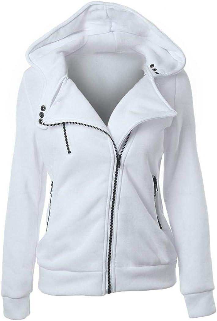 Sunywear Women Thermal Jackets Cotton Casual Hoodie Zip Up Jacket Hooded Warm Coat