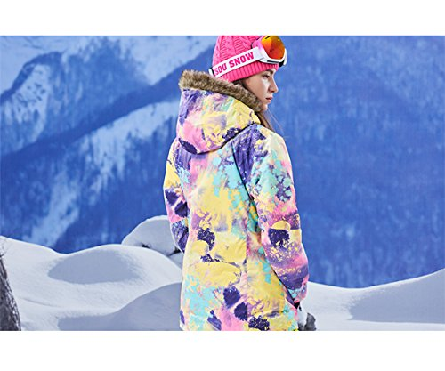 APTRO Women's High Windproof Technology Colorfull Printed Ski Jacket Style #21 Size M by APTRO (Image #4)