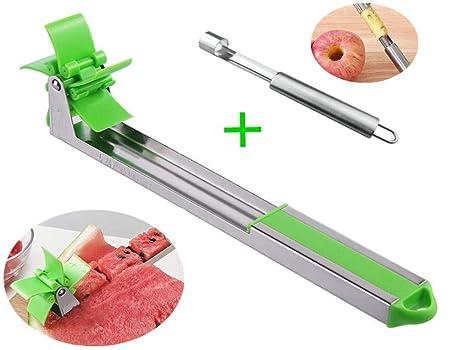 Amazon.com: Cortador de sandía de acero inoxidable, cuchillo ...