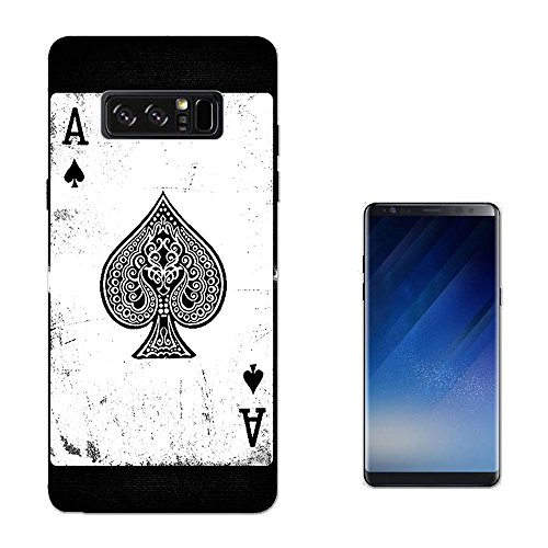 Samsung Blackjack Phone Covers (001598 - Ace Of Spades Playing Cards Casino Poker Black Jack SAMSUNG Galaxy NOTE 8 CASE Gel Silicone All Edges Protection Case Cover)