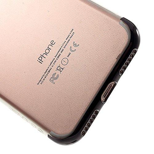 G-CASE Shiny Series II Clear TPU Plating Phone Tasche Hüllen Schutzhülle - Case für iPhone 7 4.7 Inch - schwarz