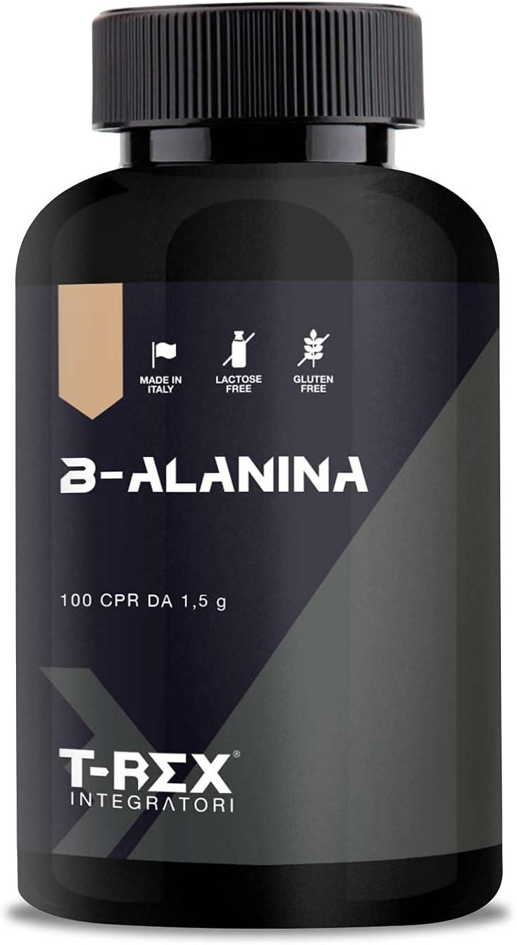Beta Alanina 100 comprimidos de 1500mg con vitaminas B1-B6-E. Contrarresta la formación de ácido láctico. Mejora la resistencia y los tiempos de ...