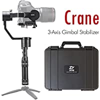 Zhiyun Crane (Updated v2) 3-Axis Handheld Gimbal Stabilizer for Mirrorless, DSLR Cameras with Gimbal Tripod