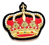 Nipitshop Patches Fashion Beautiful red Crown Queen